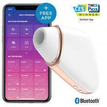 Satisfyer Connect - Love Triangle Branco / Ouro