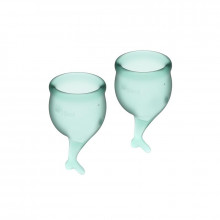 Satisfyer Feel Secure Menstrual Cup Dark Green 15 + 20Ml