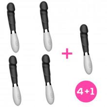 Pack 4+1 Louver Vibrador Silicona Negro