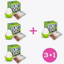 Pack 3+1 Bumpy Huevo Masturbador Elástico Silicona Verde