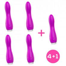 Pack 4+1 Douby Vibrador Silicona Púrpura