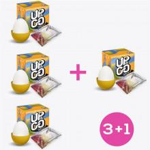 Pack 3+1 Grovy Huevo Masturbador Elástico Silicona Amarillo