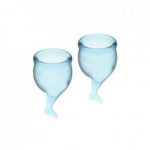 Satisfyer Feel Secure Menstrual Cup Claro Azul 15 + 20Ml