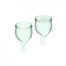 Satisfyer Feel Secure Menstrual Cup Light Green 15 + 20Ml