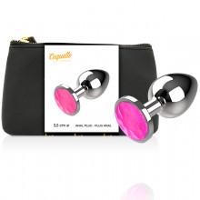 Coquette Anal Plug Metal Pink Color Size M 3.5 X 8Cm