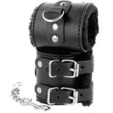 Darkness Wrist Restraints Black With Fur