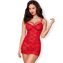 Obsessive - 860-Che-1 Chemise Red S / M