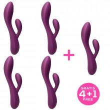 Pack 4+1 Bacall 2.0 Vibrator Purple Liquiefied Si