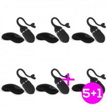 Pack 5+1 Adoree Huevo Vibrador USB Control Remoto USB Silicona