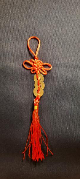Amuletă cu 3 monede și nod mistic