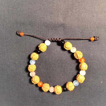 Brățară Rudraksha cu cristale de protecție