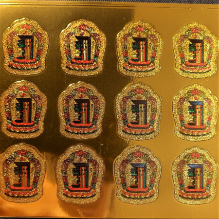 Sticker Feng Shui protecție auto Kalachakra mici