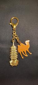 Amuleta-breloc pagoda cu 7 niveluri si cămilă pentru educație