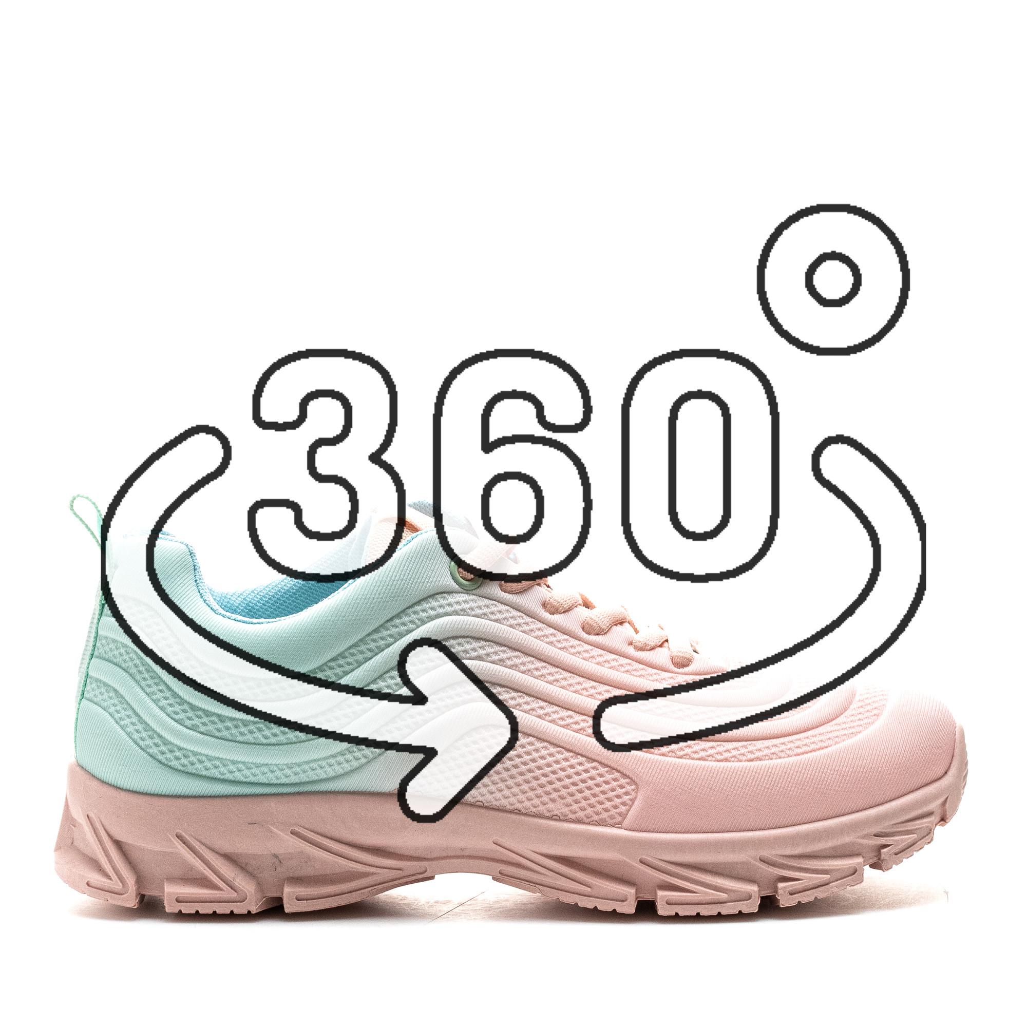 Pantofi Sport Cod: J1836 PINK GREEN (C 06)