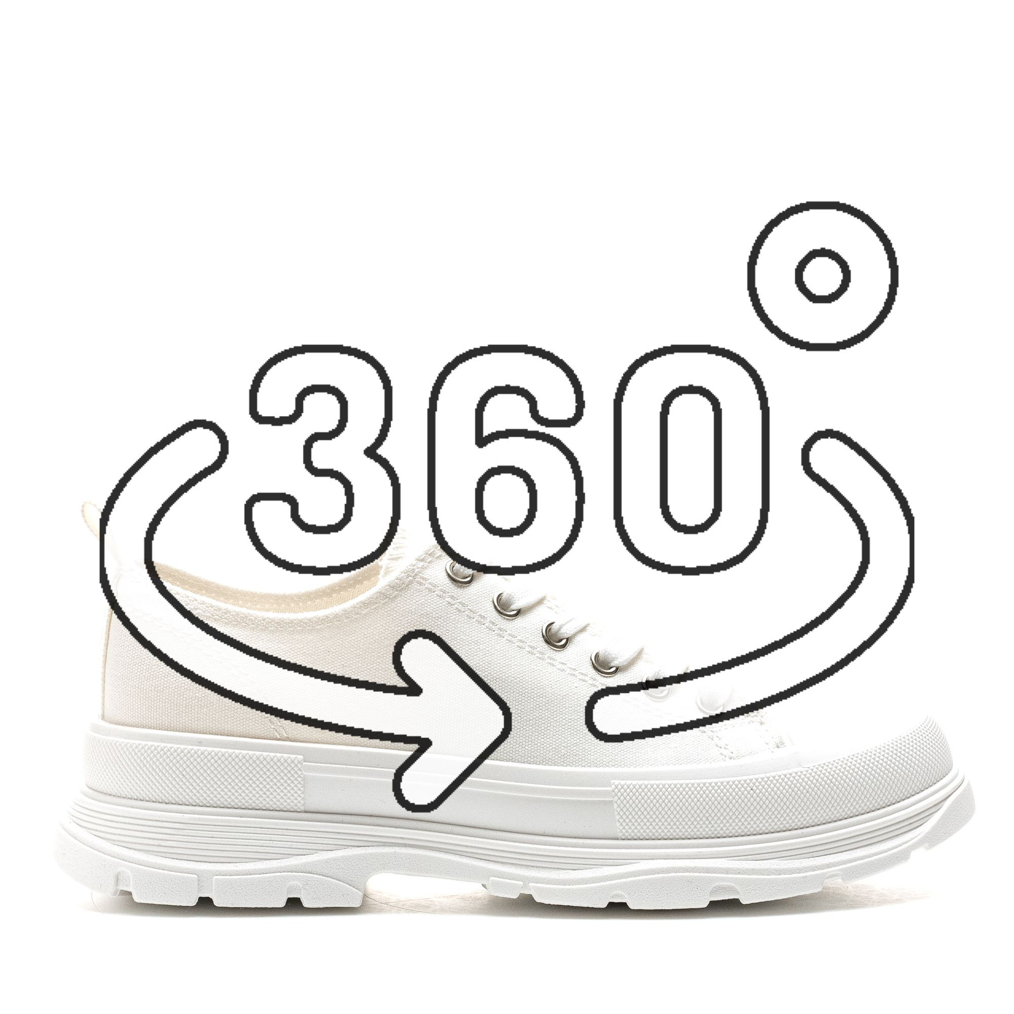 Pantofi Sport Cod: 1901 WHITE (H03)