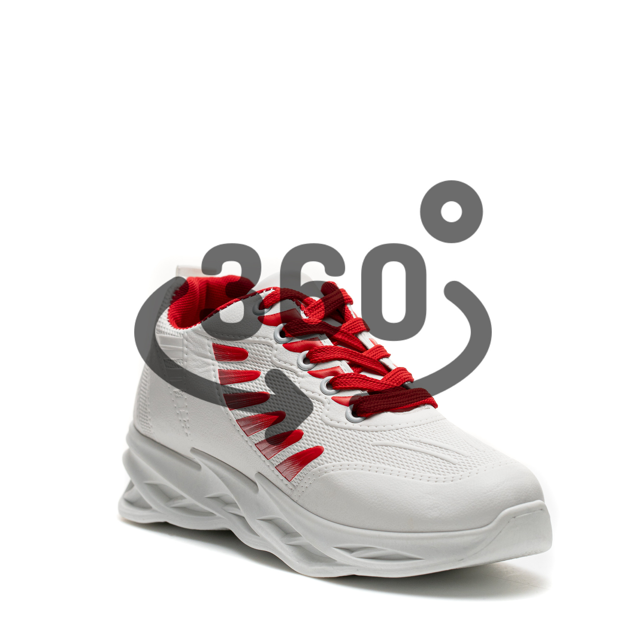 Pantofi Sport Cod: HQ-099-055 WHITE/RED (J02)