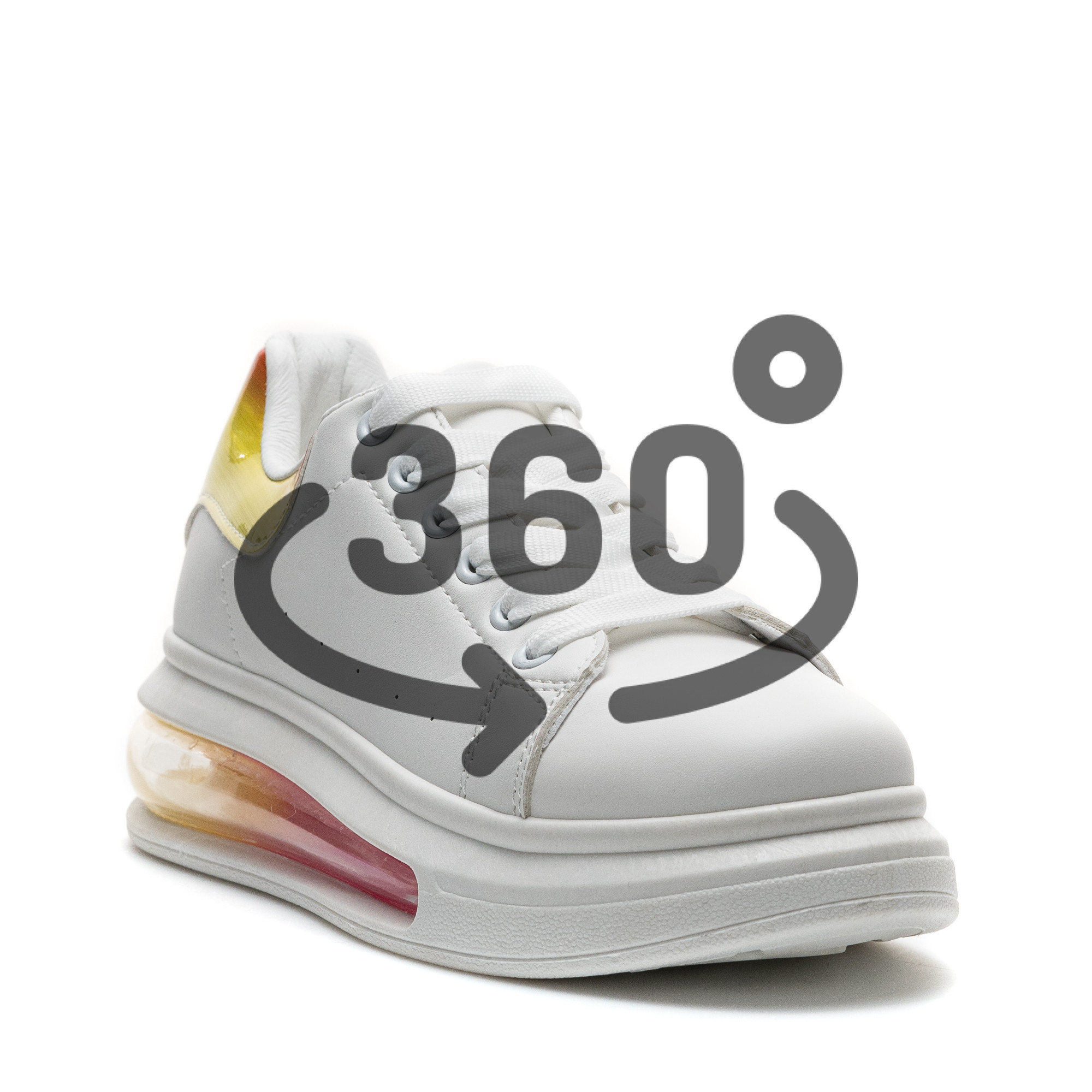 Pantofi Sport Cod: JG25 WHITE/PINK (D03)