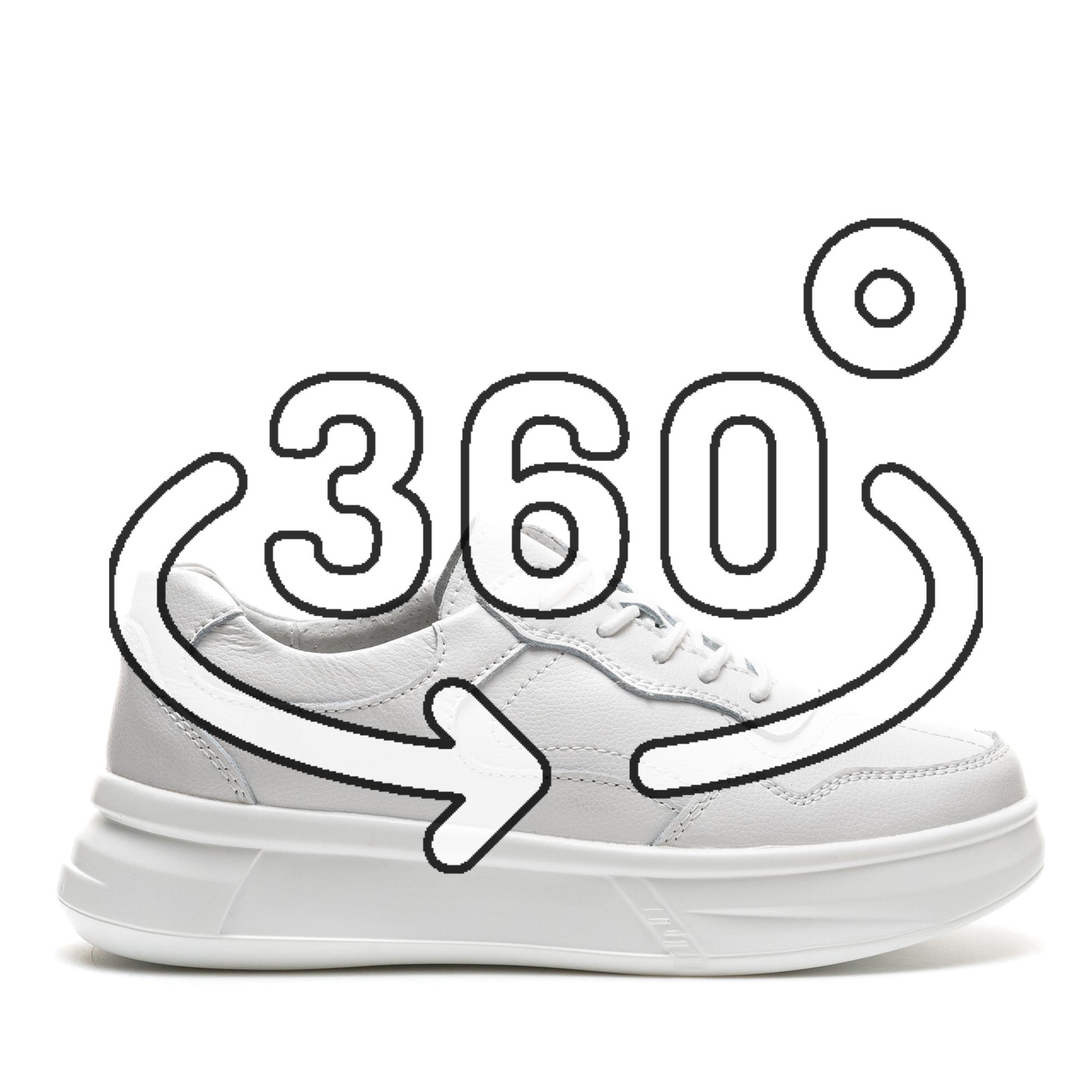 Pantofi Sport Cod: AW89 WHITE LEATHER (I 03)