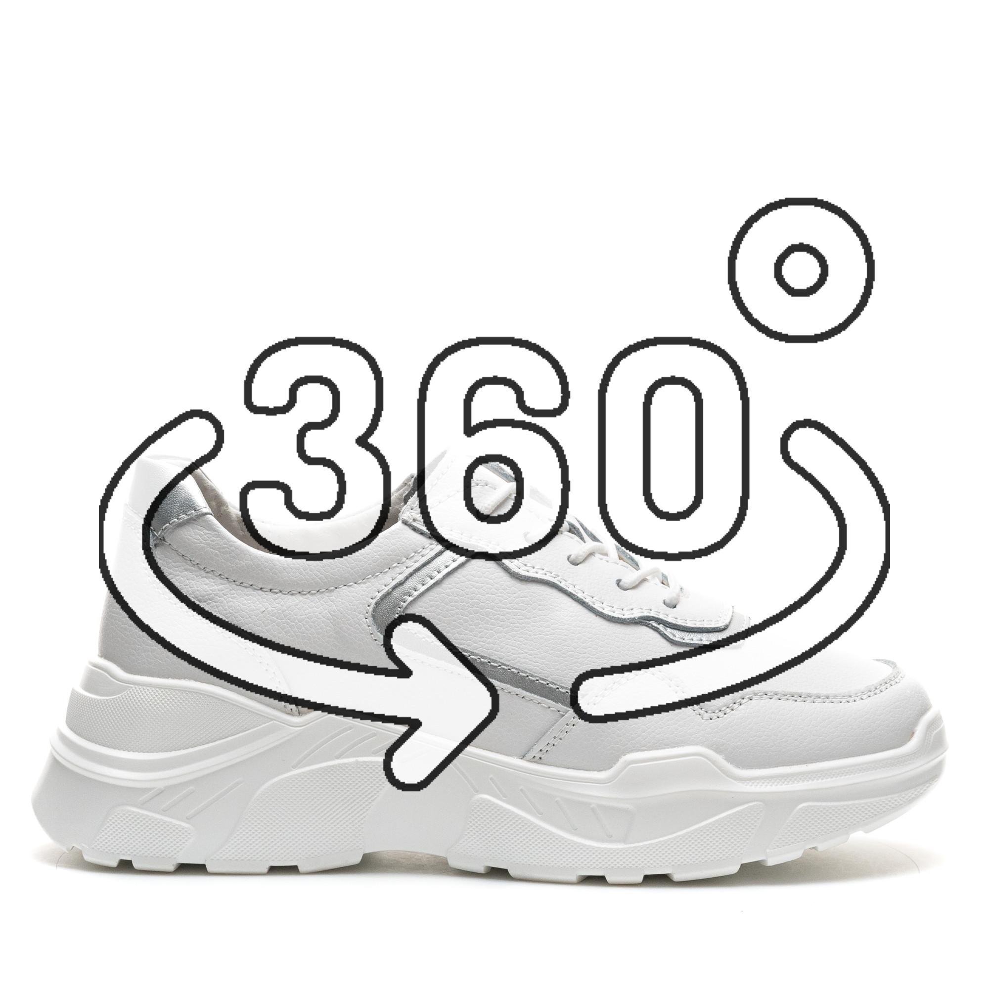 Pantofi Sport Cod: AW118 WHITE LEATHER (H02)