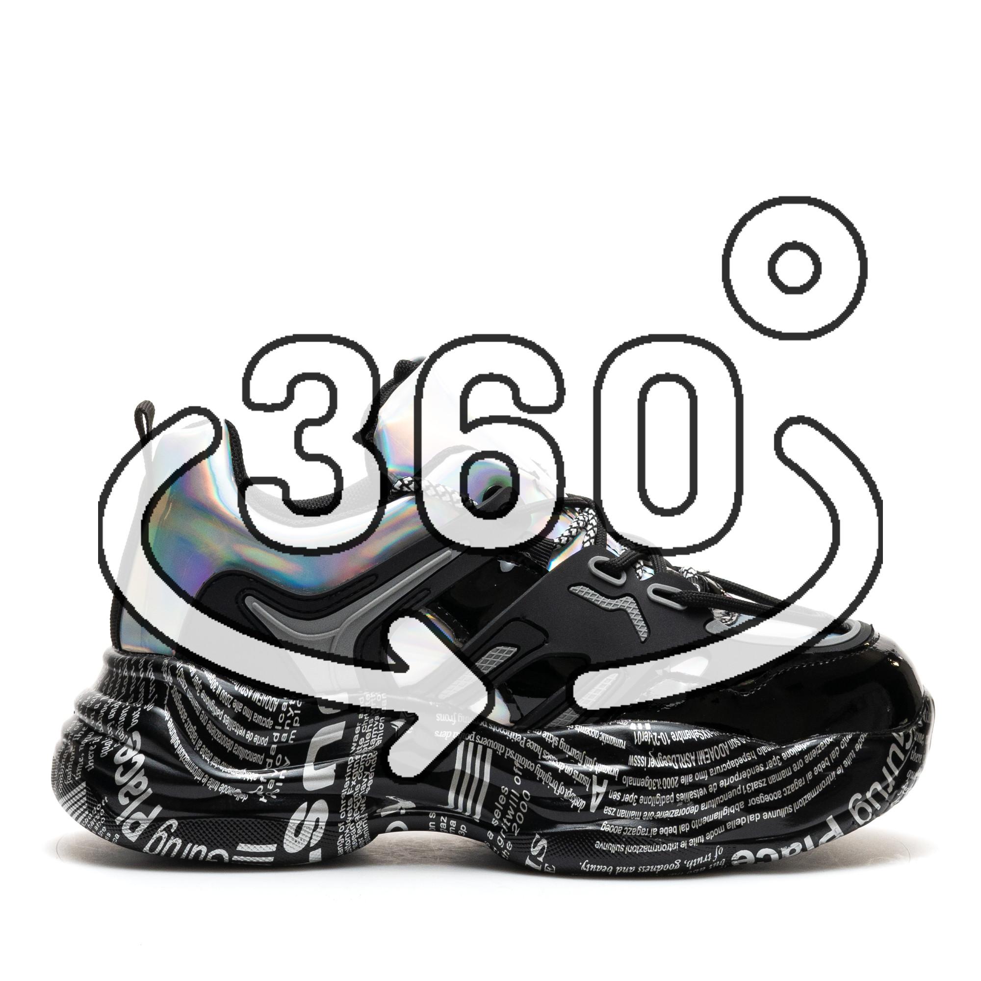 Pantofi Sport Cod: 20052 BLACK/SILVER (G03)