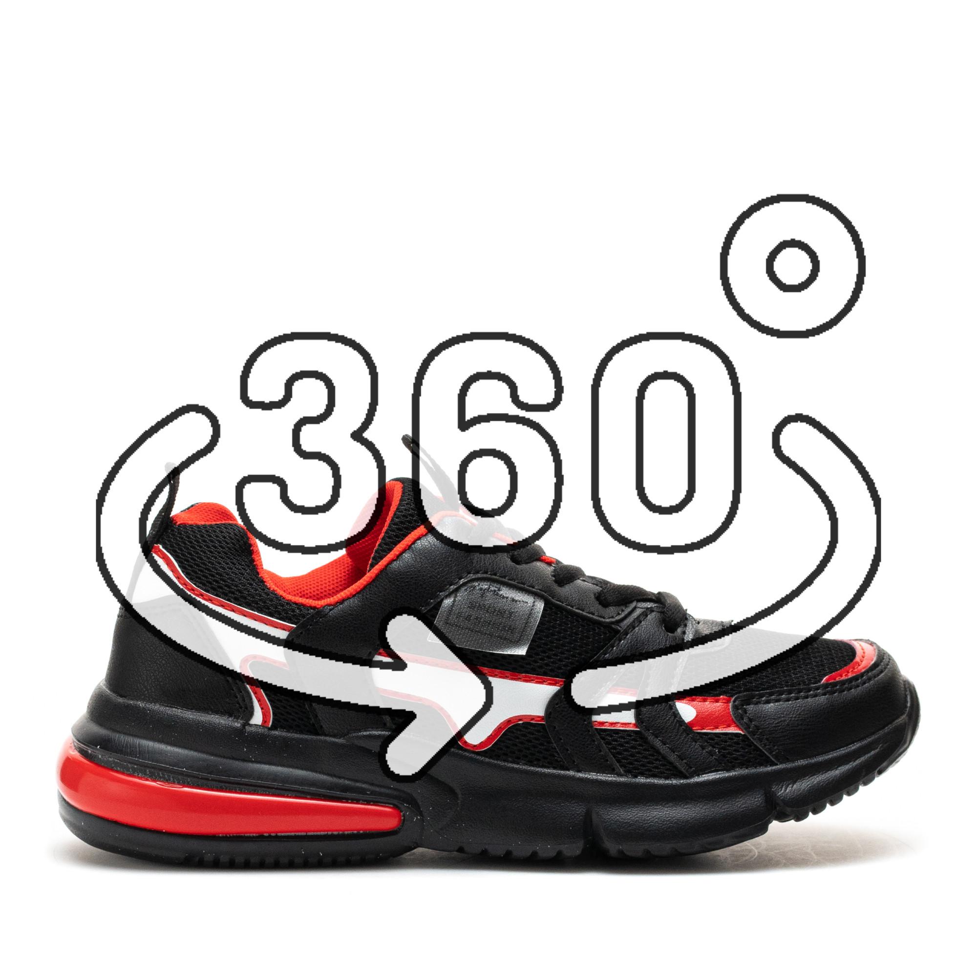 Pantofi Sport Cod: HQ726 BLACK/RED (U 04)