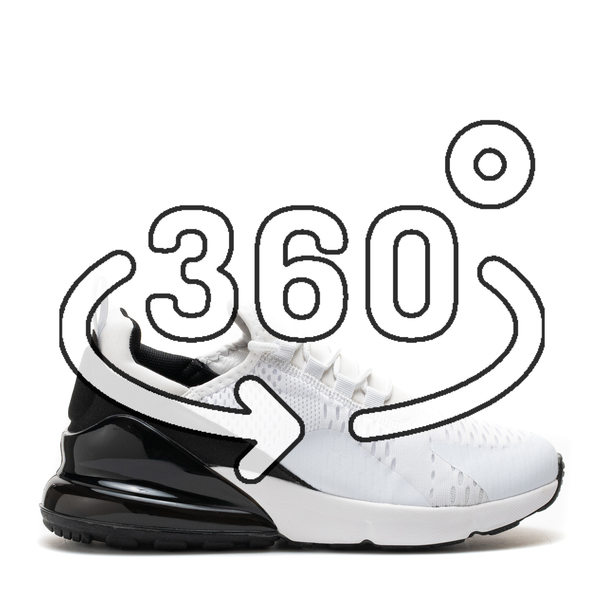 Pantofi Sport Cod: 369-2 WHITE/BLACK (F03)