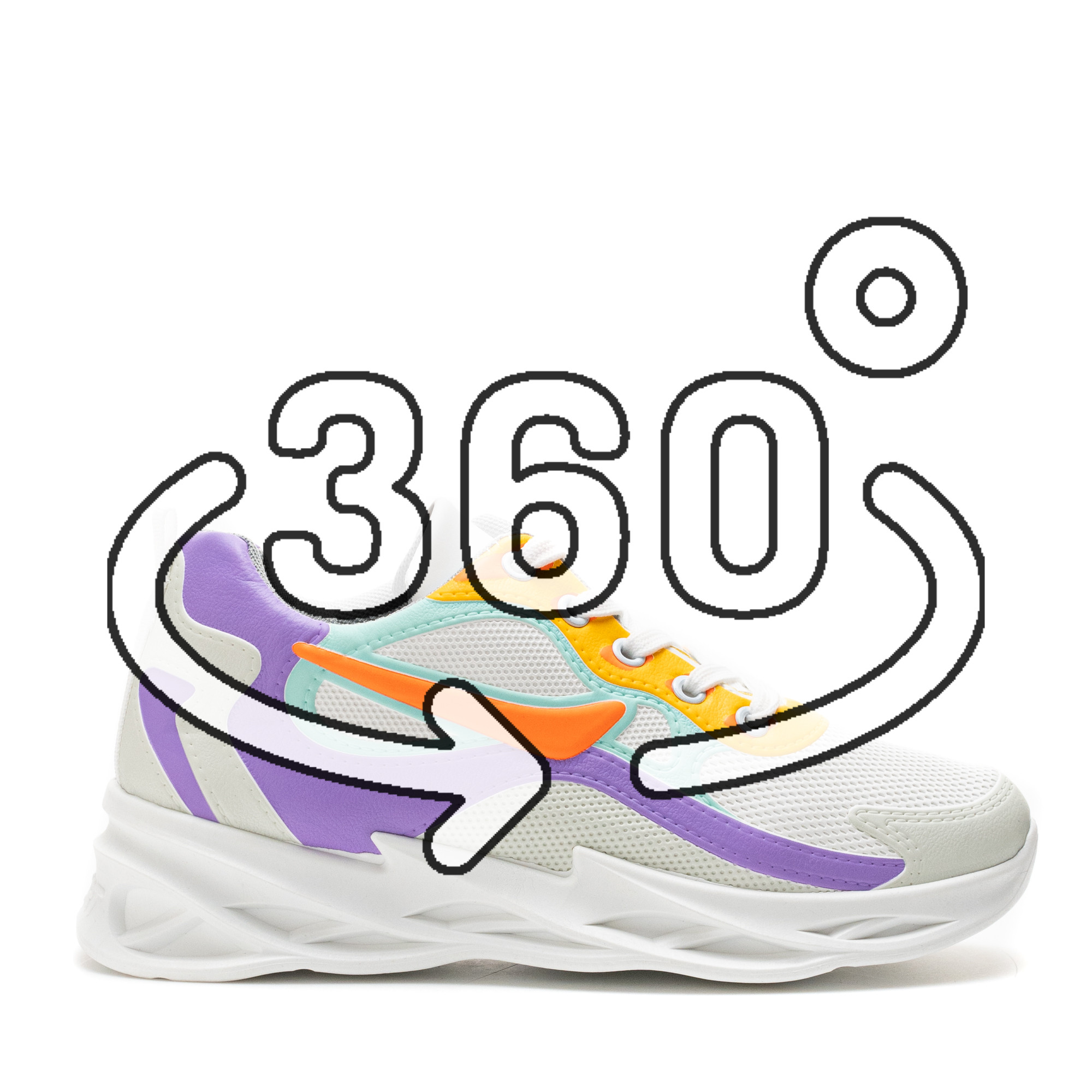 Pantofi Sport Cod: HQ-098-048 WHITE (G02)