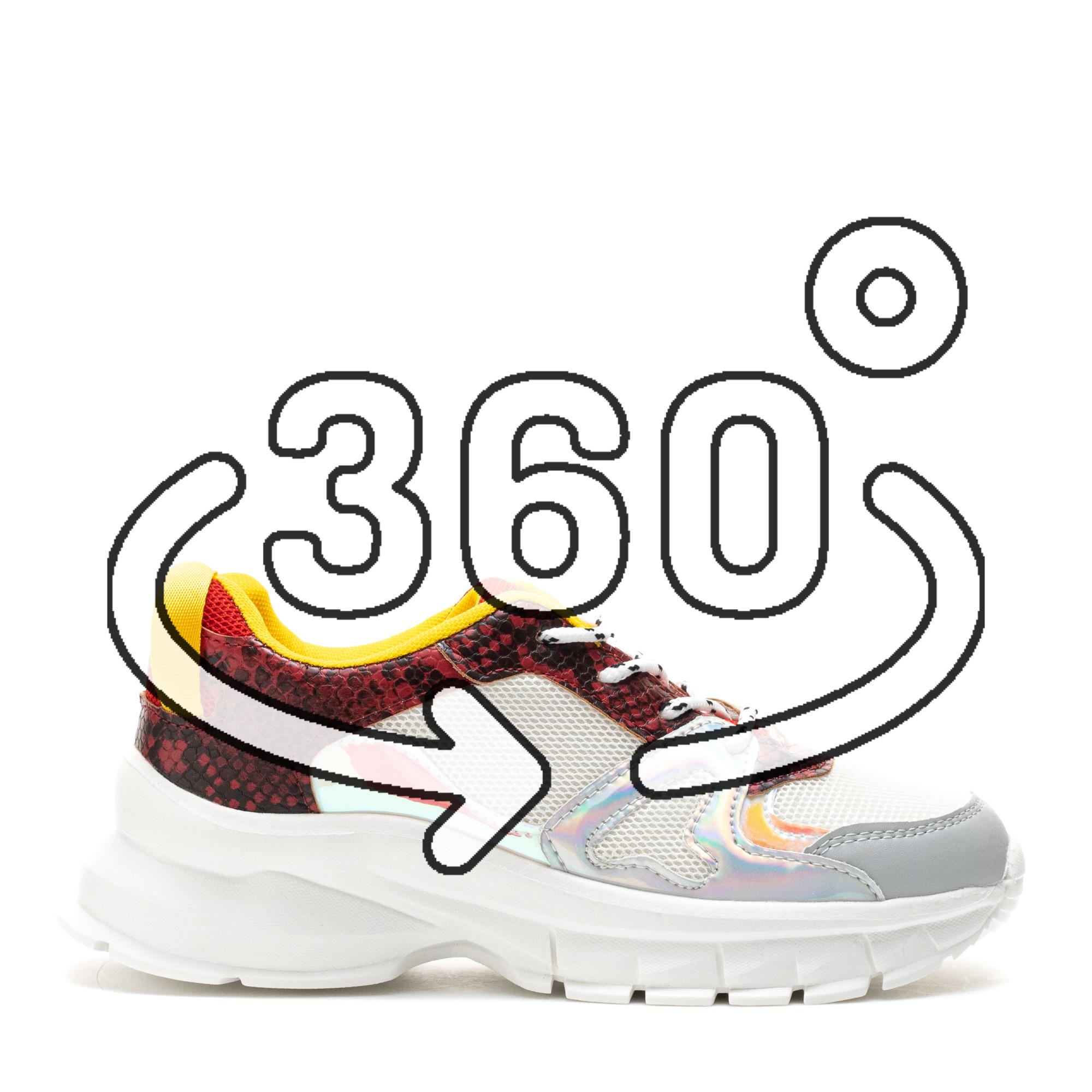 Pantofi Sport Cod: HQ-M11 WHITE/YELLOW (J01)