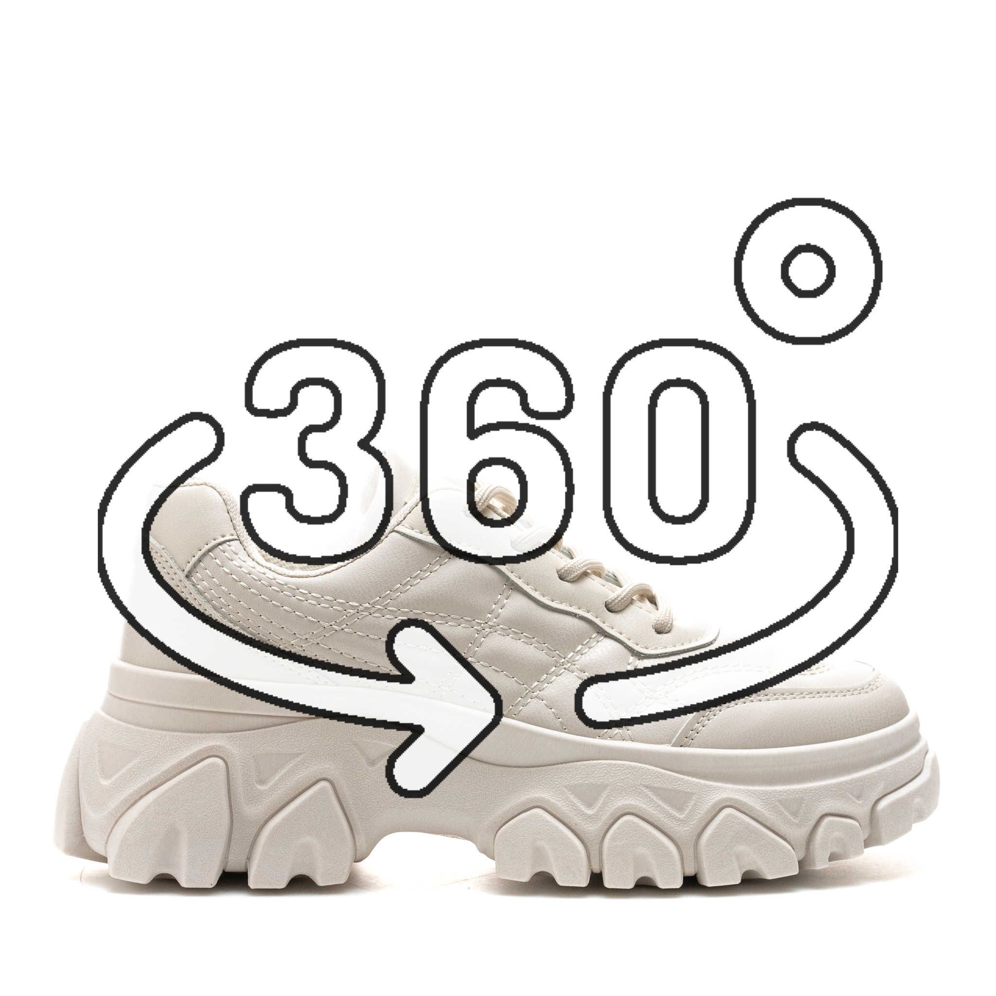 Pantofi Sport Cod: LA151 BEIGE ( I 03)
