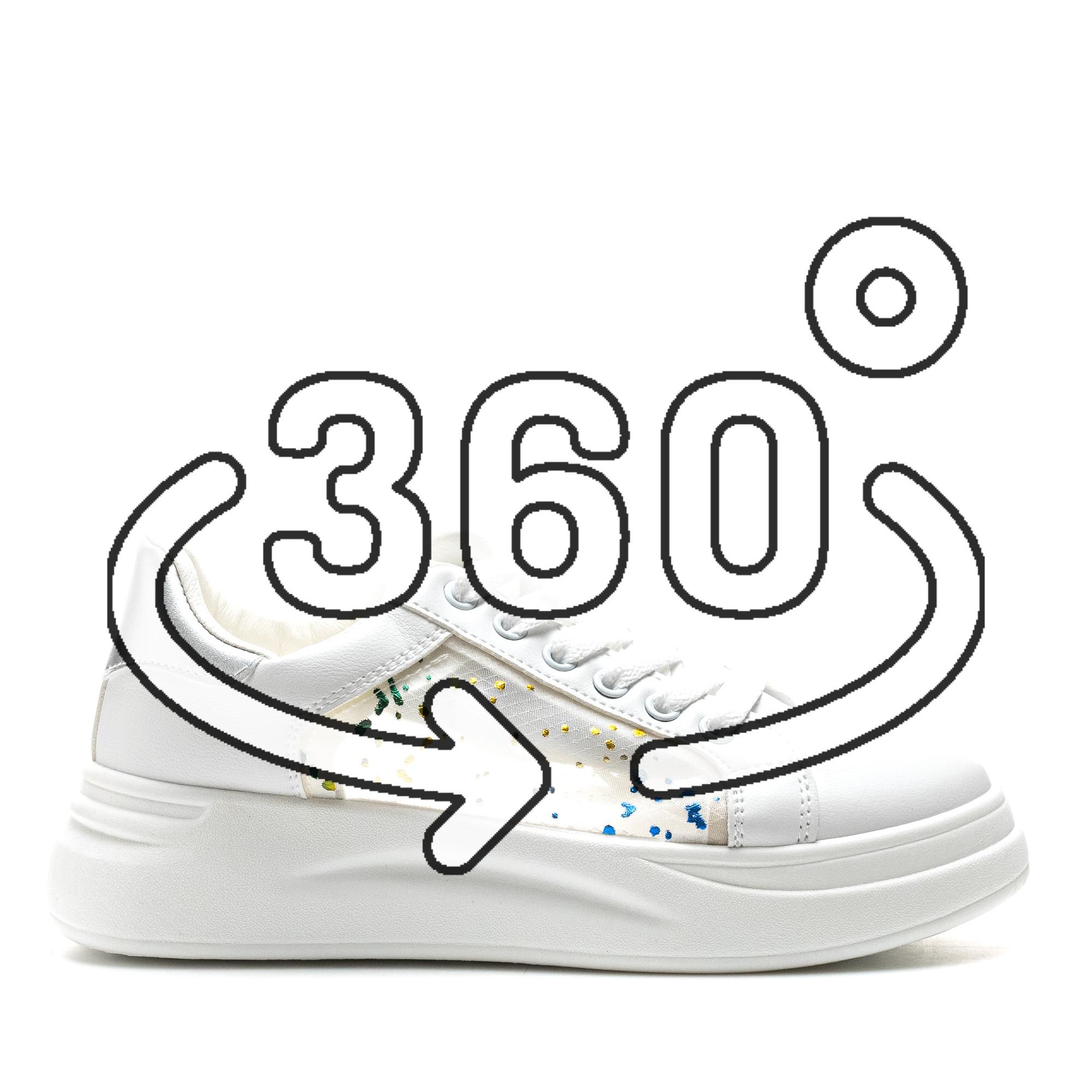 Pantofi Sport Cod: C91 WHITE/SILVER (G04)