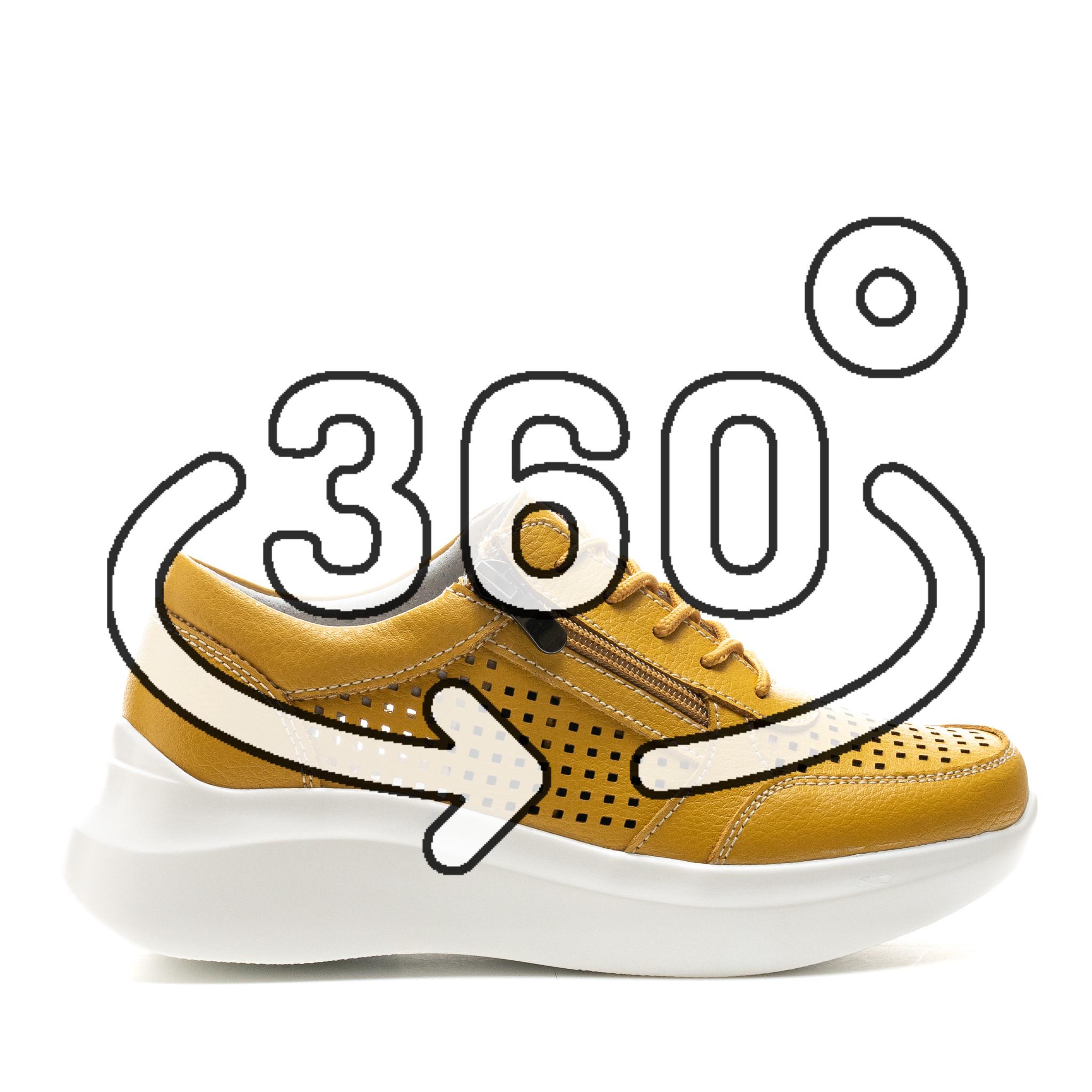 Pantofi Sport Cod: XH-2018 MUSTARD (F04)