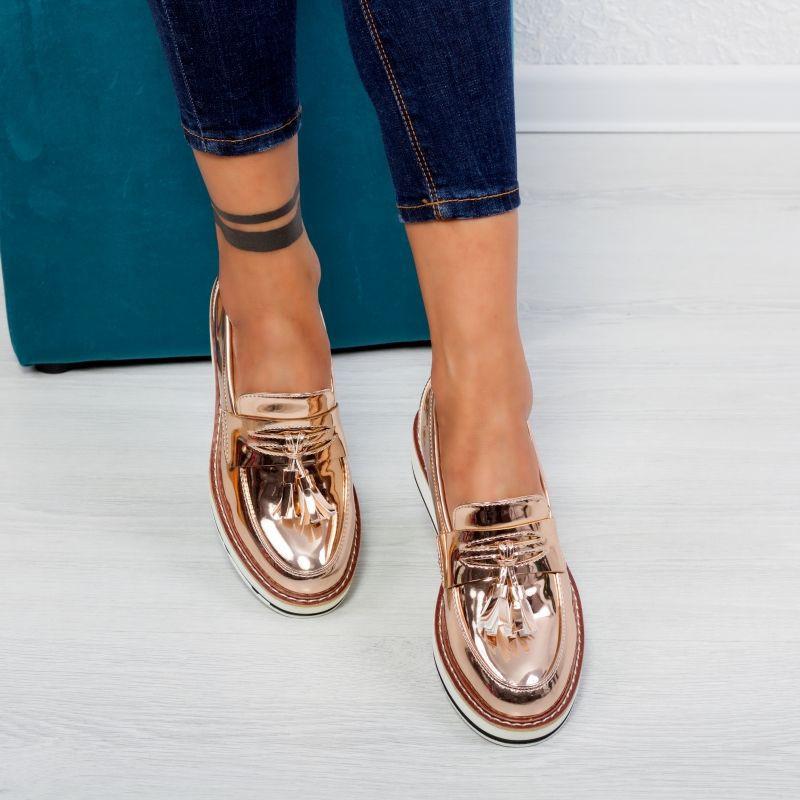 "Pantofi ""MireaFashion"" Cod: 7A131 CHAMPAGNE (A 013)"