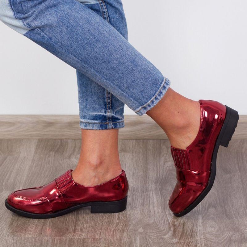 "Pantofi ""MireaFashion"" Cod: A629 Red ( B010)"
