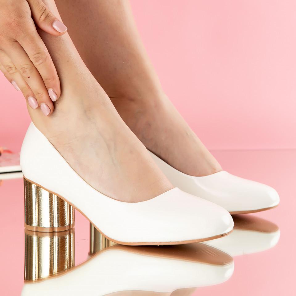 """Pantofi """"MireaFashion"""" Cod: W750-2 WHITE (J05)"""
