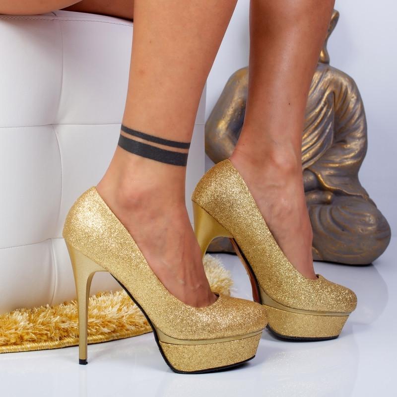 """Pantofi """"MireaFashion"""" Cod: YES3478 L.GOLD (E06-07)"""