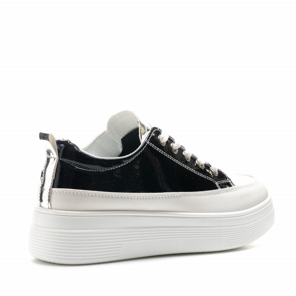 Pantofi Sport Cod: 8811 BLACK/SILVER (J02)
