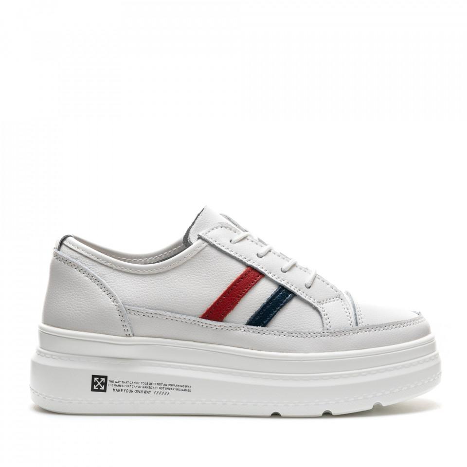 Pantofi Sport Cod: AW90 WHITE LEATHER (I 02)
