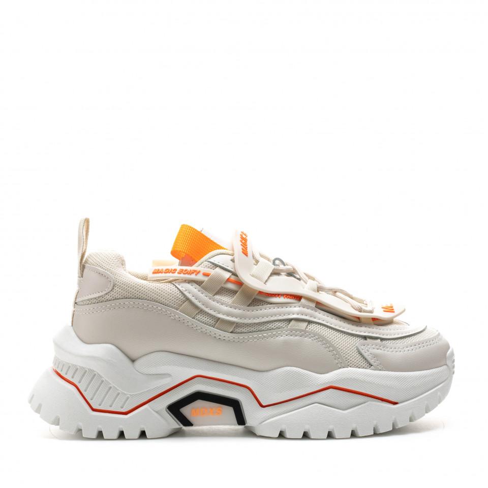 Pantofi Sport Cod: K03-3 BEIGE (H04)
