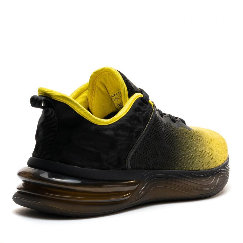 Pantofi Sport Cod: U0539-5 YELLOW/BLACK (F01)