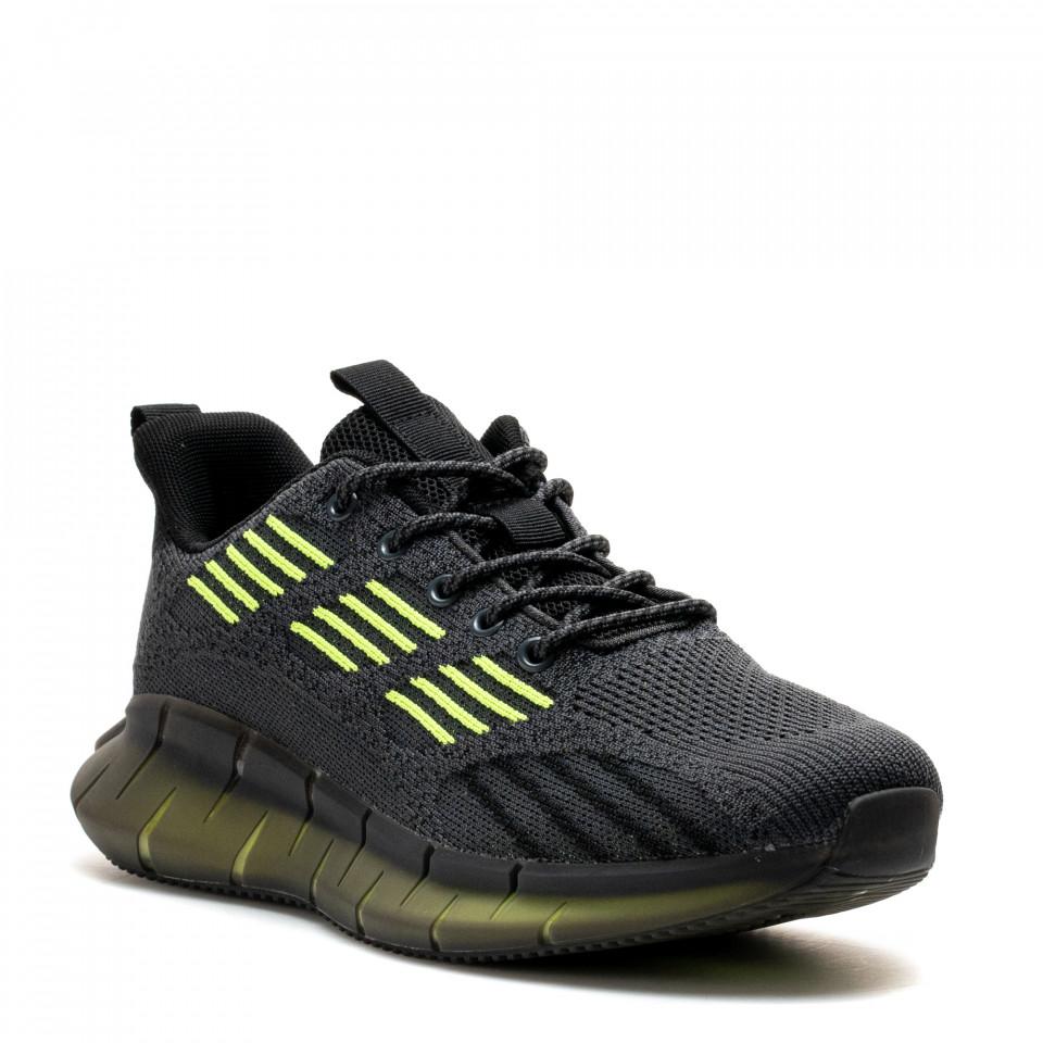 Pantofi Sport Cod: U0638-5 DK.GREY/FLUORESCENT GREEN (J03)