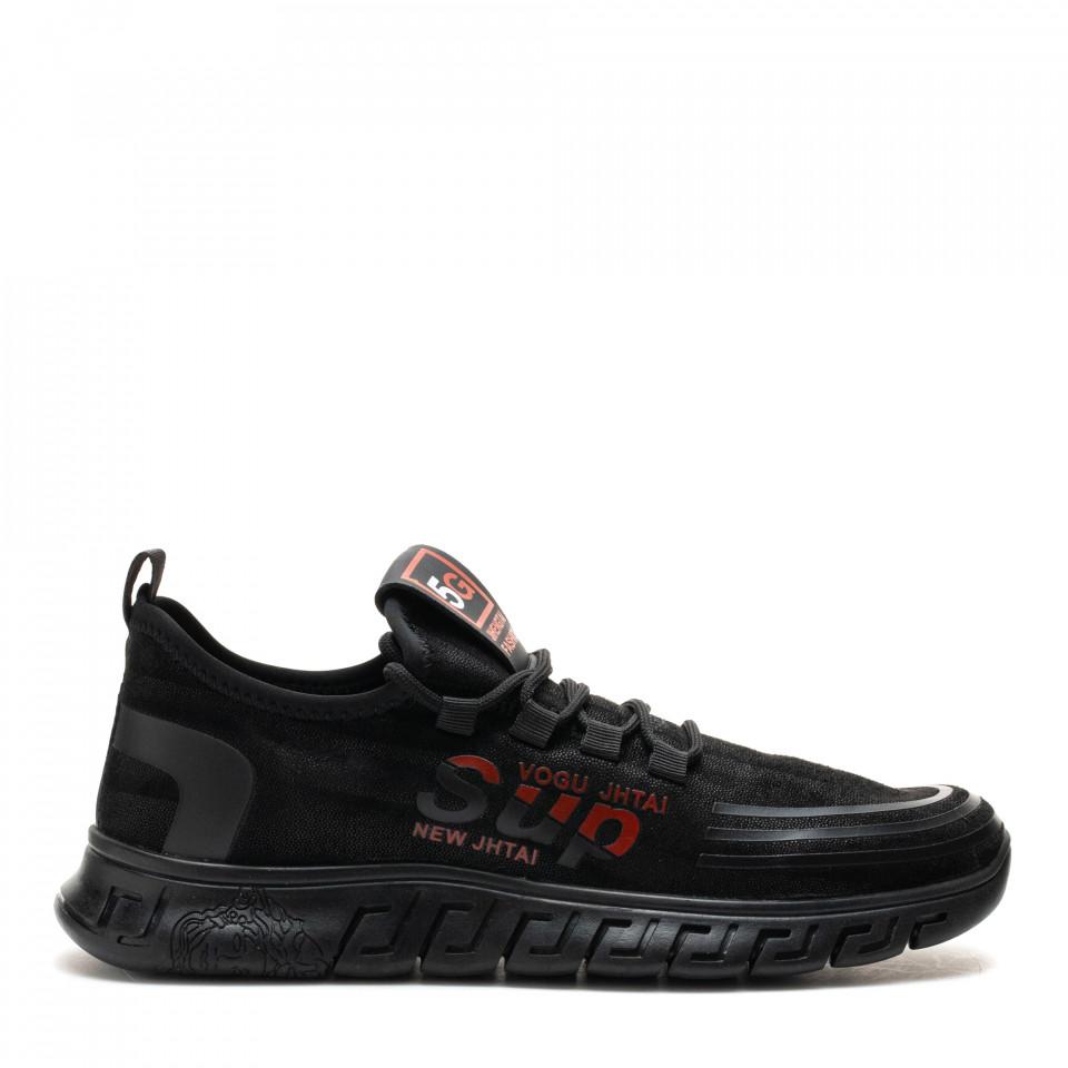 Pantofi Sport Cod: XH-02 BLACK/RED (E012)