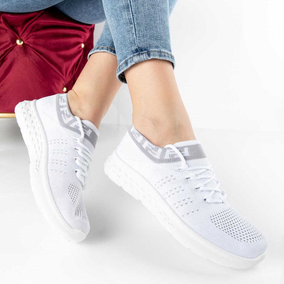 "Pantofi Sport ""MireaFashion"" Cod: 81083-2 WHITE (P02)"
