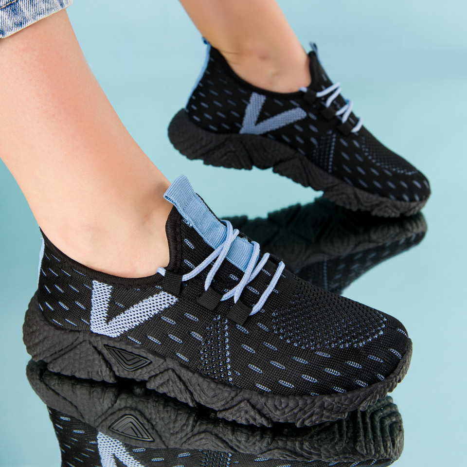 "Pantofi sport ""MireaFashion"" Cod: HQ-212-287 BLACK/W.BLUE (K03- O 02)"