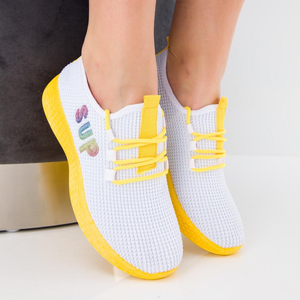 """Pantofi sport """"MireaFashion"""" Cod: HQ-36-176 WHITE (K01)"""