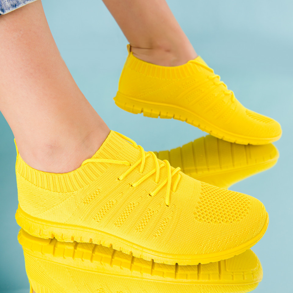 "Pantofi sport ""MireaFashion"" Cod: J180-6 YELLOW (N 03)"