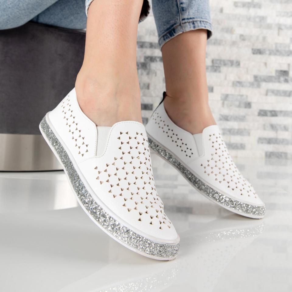 """Pantofi sport""""MireaFashion"""" Cod: V50 WHITE (E07)"""