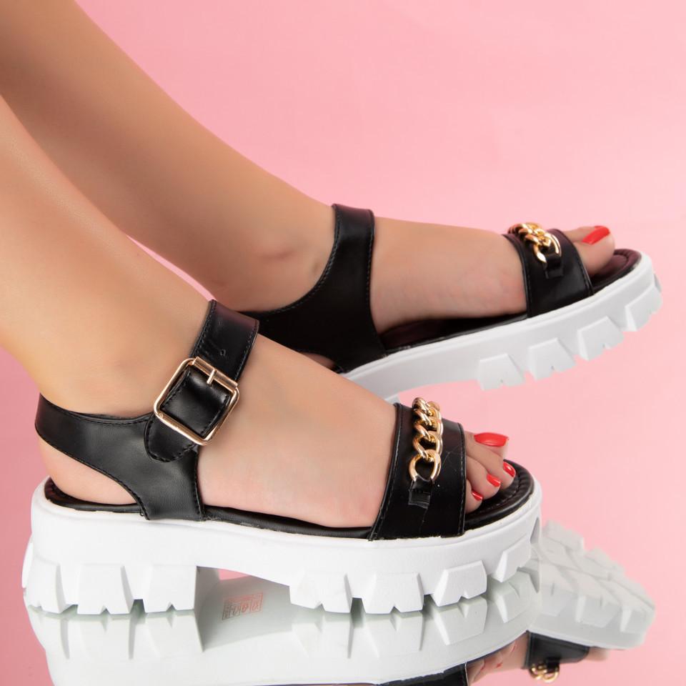 "Sandale ""MireaFashion"" Cod: 1130 BLACK (R01)"
