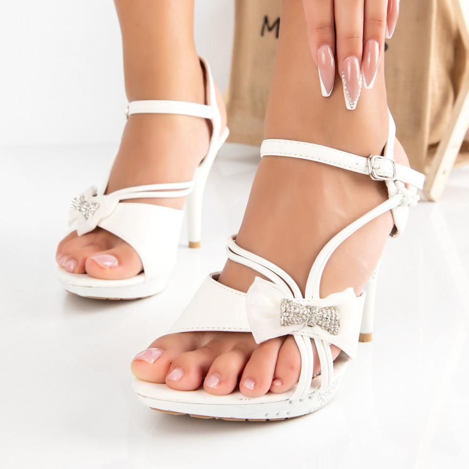 "Sandale ""MireaFashion"" Cod: 2014-12 WHITE (A 012)"