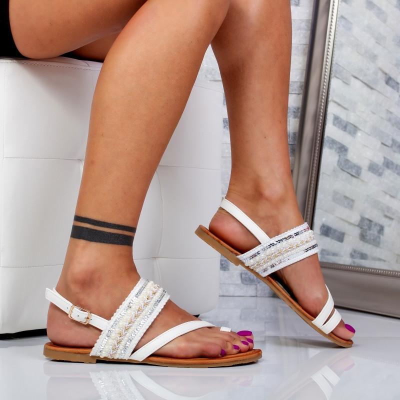"Sandale ""MireaFashion"" Cod: N17335 WHITE (B012)"