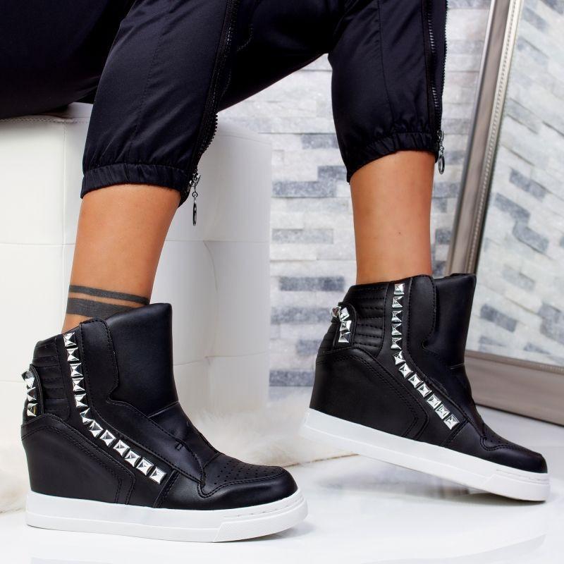 """Sneakers """"MireaFashion"""" Cod: 2JB-17384 BLACK (Y04)"""